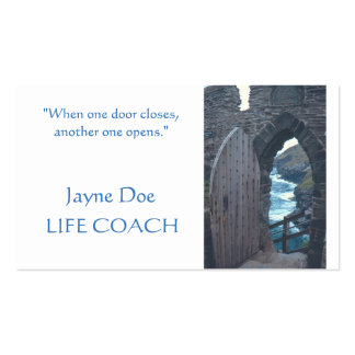 """CUSTOMIZABLE BUSINES CARDS/ """"WHEN ONE DOOR OPENS"""" BUSINESS CARD"""