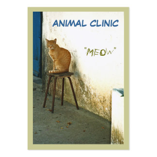 """CUSTOMIZABLE BUSINESS CARD, """"CAT PERCHED ON STOOL"""" LARGE BUSINESS CARDS (Pack OF 100)"""