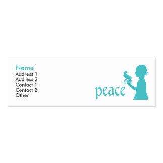 Customizable business card for peace activists