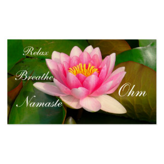 CUSTOMIZABLE BUSINESS CARD/LARGE PINK LOTUS BLOSSO BUSINESS CARD