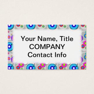 Customizable BUSINESS CARD - Pop Art CIRCLES