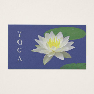"CUSTOMIZABLE BUSINESS CARD, ""WHITE LOTUS BLOSSOM"" BUSINESS CARD"