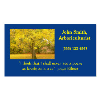 CUSTOMIZABLE BUSINESS CARD WITH GOLDEN TREE