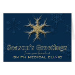 Customizable Business Holiday Cards in Deep Blue