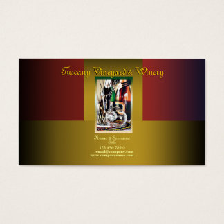 Customizable business profile winery vineyard wine business card