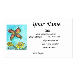 Customizable Butterfly Business Card