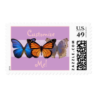 Customizable Butterfly Postage Stamps