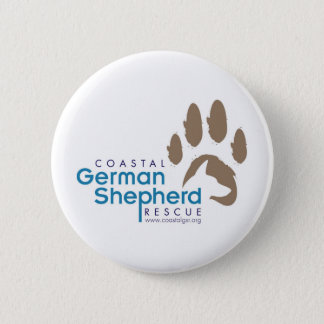 Customizable Button - Coastal German Shepherd