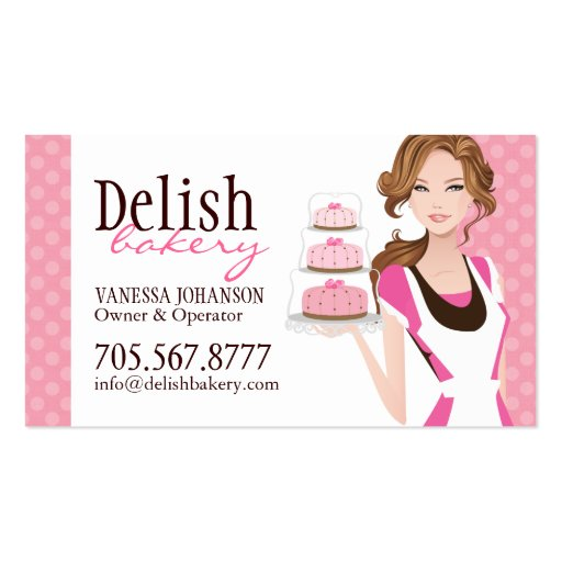 Customizable Cake Bakery Business Card