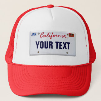 (Customizable) California License Plate Trucker Hat
