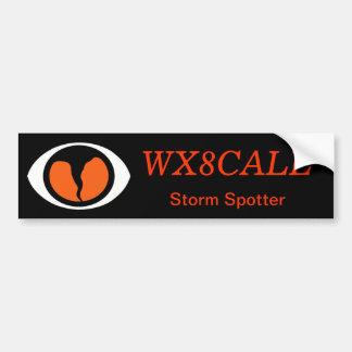 Customizable Call Sign SKYWARN Bumper Sticker