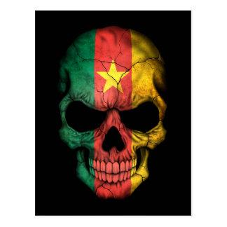 Customizable Cameroon Flag Skull Postcard