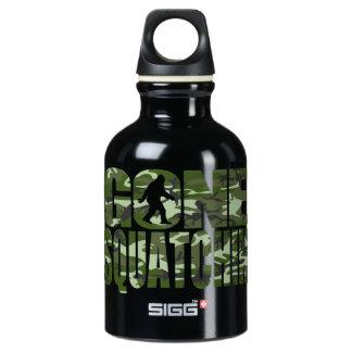 Customizable Camo Gone Squatchin Aluminum Water Bottle