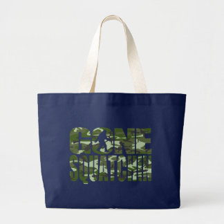 Customizable Camo Gone Squatchin Large Tote Bag