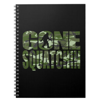 Customizable Camo Gone Squatchin Notebooks