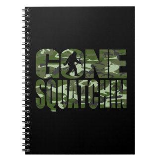 Customizable Camo Gone Squatchin Spiral Notebook