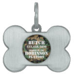 Customizable Camouflage Pet Dog ID Tag Pet Name Tag