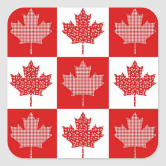 Customizable Canadian Maple Leaf Tees, Gifts Square Sticker