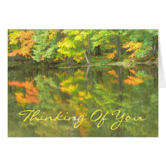"customizable card/""Thinking Of You""/LAKE REFLECTIO Card"