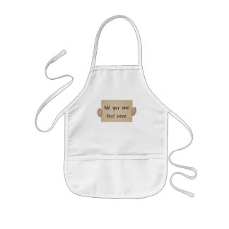 Customizable Cardboard Protest Sign Kids' Apron