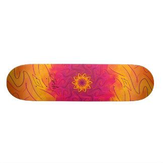 Customizable Carnation (Psychedelic spirograph) Skateboard