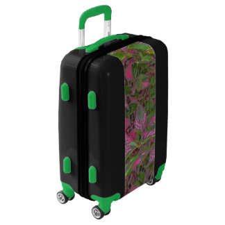"""CUSTOMIZABLE CARRY-ON LUGGAGE/ """"COLORFUL COLEUS"""" LUGGAGE"""
