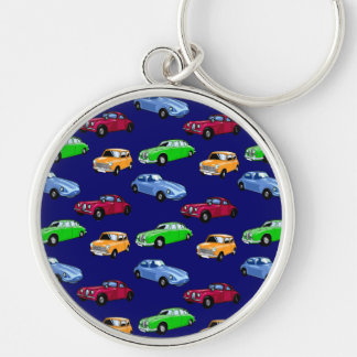 Customizable Cars Silver-Colored Round Keychain