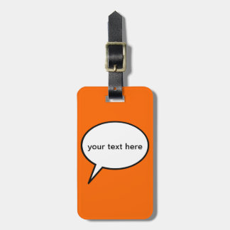 customizable cartoon speech balloon bag tag
