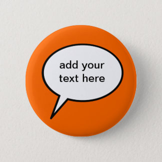 customizable cartoon speech balloon button