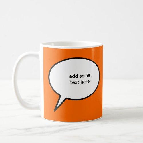 customizable cartoon speech balloon coffee mug