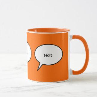 customizable cartoon speech balloon mug