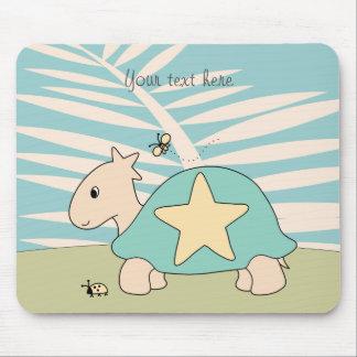 Customizable Cartoon Star Tortoise Mouse Pad