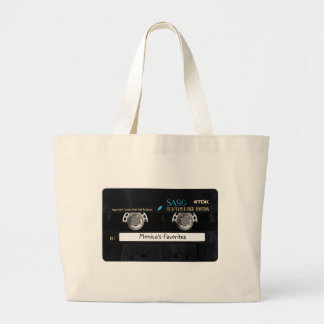 Customizable Cassette Tape Large Tote Bag