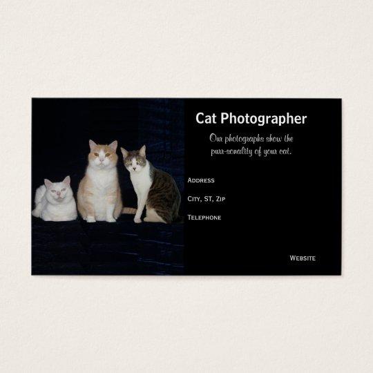 Customizable Cat Business Photography Business Card