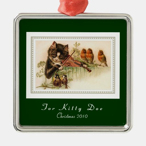 Customizable Cat Christmas Ornament
