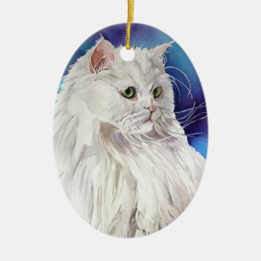Customizable Cat Lover Art Cat Portrait Ornament