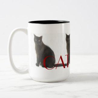 Customizable Cat Lover Gifts & Greetings Two-Tone Coffee Mug