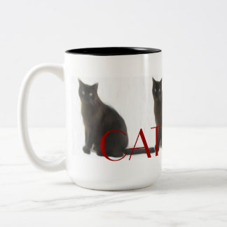 Customizable Cat Lover Gifts & Greetings Two-Tone Coffee Mug