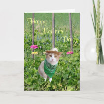 Customizable Cat Lover Mother's Day Gardener Card