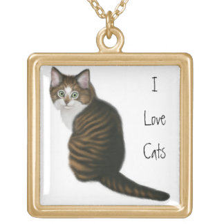 Customizable Cat Lovers Necklace