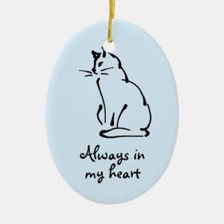 Customizable Cat Memorial Ornament