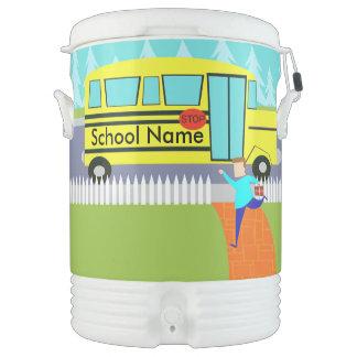 Customizable Catching School Bus Beverage Cooler
