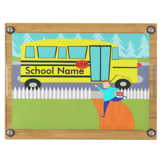 Customizable Catching School Bus Cheese Board