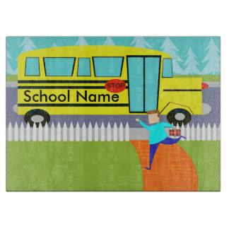 Customizable Catching School Bus Cutting Board