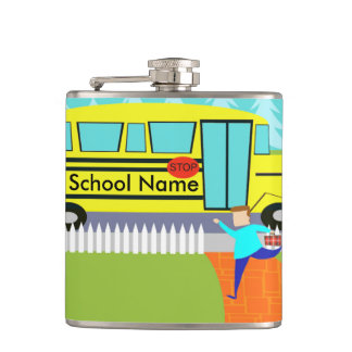 Customizable Catching School Bus Flask