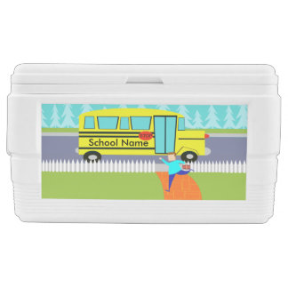 Customizable Catching School Bus Igloo Cooler