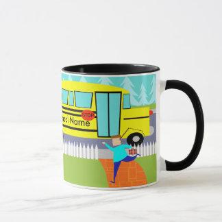 Customizable Catching the School Bus Cartoon Mug