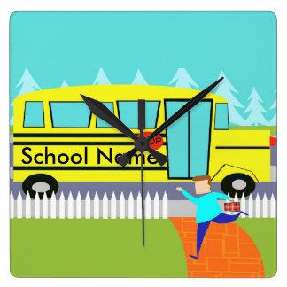 Customizable Catching the School Bus Clock