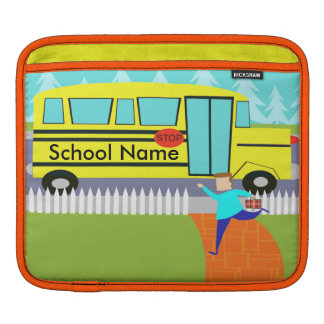 Customizable Catching the School Bus iPad Sleeve