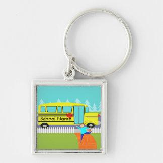 Customizable Catching the School Bus Keychain